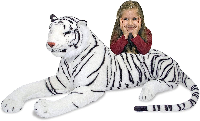 Melissa High order Doug Giant Siberian White Stuffed 2021new shipping free Ani Tiger - Lifelike