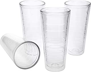 4-pack Insulated 22 Ounce Tumblers - BPA-Free - Made in USA - Clear (22oz Insulated Cups)