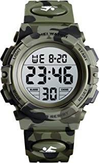 SKMEI Kids Watch, Digital Sports Waterproof Watch for Boys Girls, Outdoor Multifunction Chronograph with Colorful LED Back...
