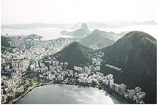Solig utsikt över Rio de Janeiro Bay 1 000 bitar träpussel vuxna barn fritid underhållning pussel leksak