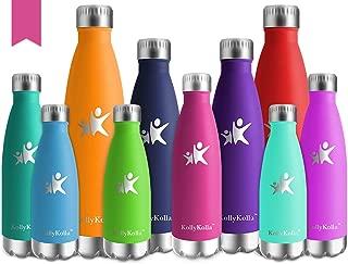 KollyKolla Botella de Agua Acero Inoxidable, Termo Sin BPA Ecológica, Botellas Termica Reutilizable Frascos Térmicos para Niños & Adultos, Deporte, Oficina, Yoga, Ciclismo, (500ml Barbie Rosa)