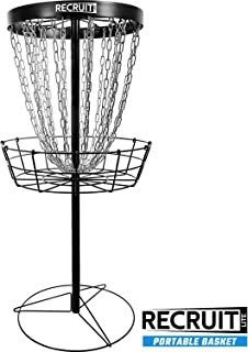 Dynamic Discs Recruit Lite | Disc Golf Target | 24 Chain Portable Disc Golf Basket | Easy Assembly & Lightweight