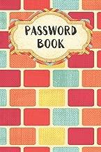 Password Book: Rectangle Design - Never Forget Your Passwords, Usernames, Logins & Websites Again Computer Password Book (Internet Password Logbook)