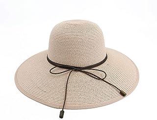 Sombreros Sombrero De Sol para Mujer Sombrero De Playa para Exteriores Protección Solar Sombrero De Paja Sombrero para El Sol Sombrero Grande (Color : Pink)