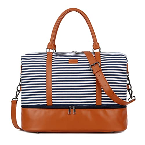 1e2a63200bf6 BAOSHA HB-28 Ladies Women Canvas Travel Weekender Overnight Carry-on  Shoulder Duffel Tote