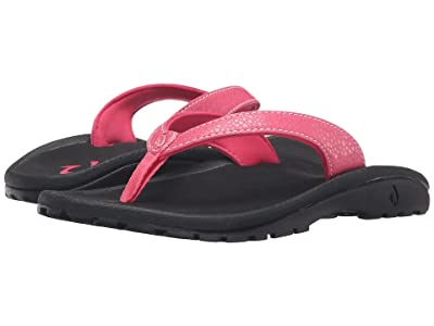 OluKai Kids Kulapa Kai (Toddler/Little Kid/Big Kid) (Bikini Pink/Black) Girls Shoes