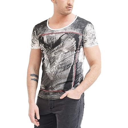 t-Shirt Mode Fashion Vetements Swag Marque col Rond Militaire Manche Courte /& Slim fit Classic trueprodigy Casual Homme Tee Shirt Motif imprim/é Logo