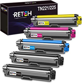 RETCH Compatible Brother TN221 TN225 Toner Cartridge Replacement Used in Brother MFC-9130CW HL-3170CDW HL-3180CDW MFC-9330...