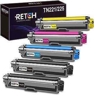 خرطوشة حبر متوافقة مع RETCH لطابعة Brother TN221 TN225 TN-221 TN-225، تستخدم مع MFC-9130CW HL-3170CDW HL-3180CDW MFC-9330C...