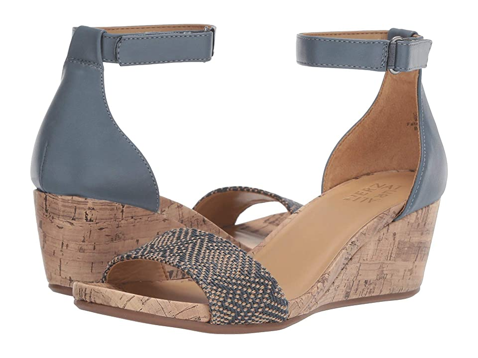 Naturalizer Areda (Blue Multi Geo Texture/Smooth) Women's Wedge Shoes