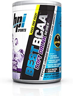 BPI Sports Best BCAA Soft Drink Series Powder, Branched Chain Amino Acids, Grape Soda, 30 Servings, 11.64 Ounce