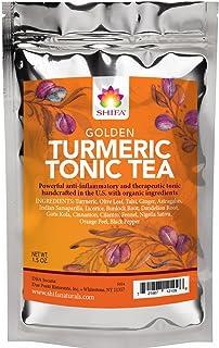 Shifa Golden Turmeric Tonic Tea: Anti-inflammatory and Therapeutic Tonic with Herbs, Phytonutrients and Antioxidants