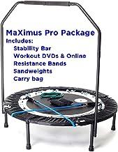 MaXimus Pro opvouwbare trampoline, nr. 1 mini-trampoline voor binnen, met draagstang voor volwassenen, beste fitnessstudio...