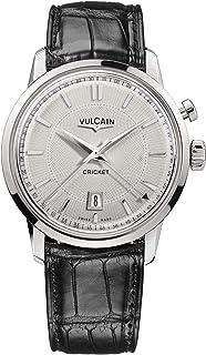 Vulcain - Cricket 50s Presidents Reloj para Hombre Analógico de Mecánico de Cuerda Manual con Brazalete de Piel de cocodrilo 110151G70.BAL101