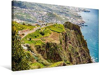 CALVENDO Blick auf das steil abfallende Felskliff auf der portugiesischen Insel Madeira