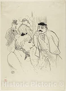 Historic Pictoric Print : The Stalk—Moulin Rouge, Henri de Toulouse-Lautrec, c 1896, Vintage Wall Decor : 36in x 48in