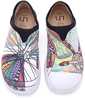 Women's Blue Ocean Painted Canvas Loafer Shoes Blue