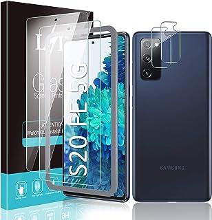 LK 4 stuks gehard glas compatibel met Samsung Galaxy S20 FE/Fan Edition 5G - 2 stuks displaybeschermfolie + 2 stuks achter...