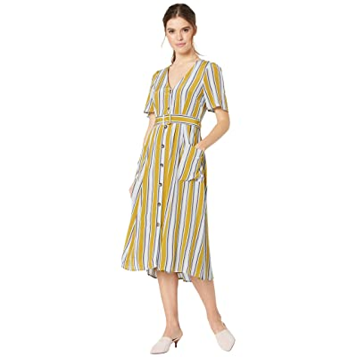ASTR the Label Scout Dress (Moss Multi Stripe) Women