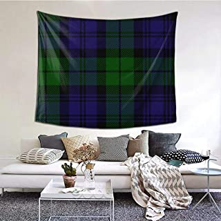 GuoJJ Black Watch Tartan Wall Hanging Tapestry Wall Hanging Art Home Decor for Bedroom Living Room Apartment Dorm 60 x 51 Inches