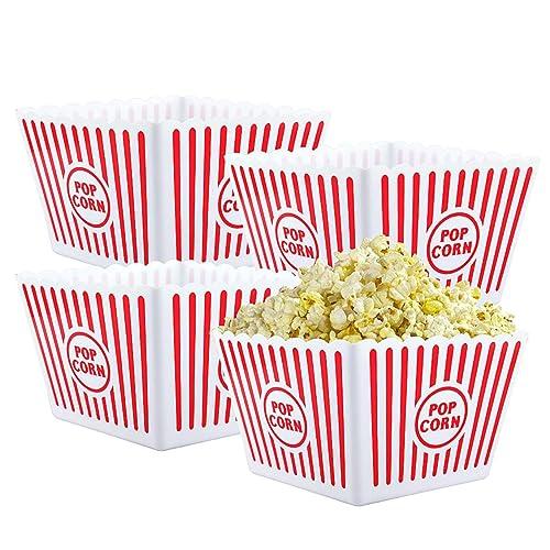 Bekith Open-Top Plastic Reusable Popcorn Tub a4eb36b2d3052