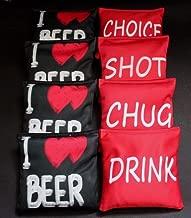 BackYardGamesUSA I Love Beer Drink Shot Chug Choice 8 ACA Regulation Cornhole Bean Bags B219