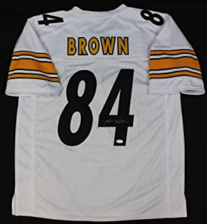 Antonio Brown Autographed Signed Pittsburgh Steelers White Jersey  Memorabilia - JSA Authentic 49eaed9b7