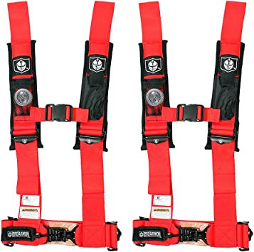 Pro Armor A114230RD Red 4-Point Harness 3 Straps 2 Pack