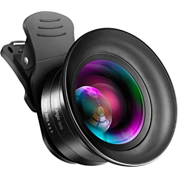Cell Phone Camera Lens Kit – VIEWOW 4K HD 7 Optical Glasses 15X Macro 0.45X Wide Angle Phone Lens Kit with LED Light and Travel Case, Compatible with iPhone Samsung Pixel (0.15X Wide Angle)