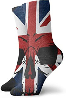 Anarchy Uk Skull Athletic 30cm Socks Ankle Socks Sport Casual Socks Cotton Crew Socks