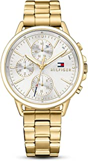 Tommy Hilfiger Carly Women's Silver Dial Stainless Steel Band Watch - 1781786