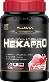ALLMAX Nutrition Hexapro Protein Blend, Strawberry, 3 lbs