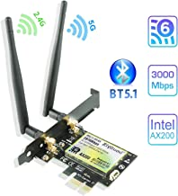 Ziyituod WiFi 6 AX200 Bluetooth5.1 PCIe WiFi Card | Up to 2402Mbps | Intel WiFi 6 AX200..