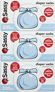 Sassy Disposable Scented Diaper Sacks - 200 ct - 3 pk