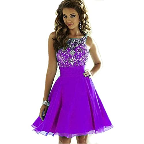 MEILISAY Meilishuo Women s Sparkly Beading Prom Dresses Short Homecoming  Dresses 2018 for Juniors LF-146 be6ed3a8e