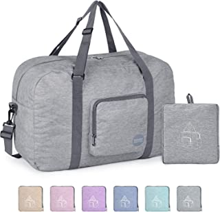 """WANDF 16"""" ~ 36"""" Foldable Duffle Bag 20L ~ 120L for Travel Gym Sports Packable Lightweight Luggage Duffel Water-resistant"""