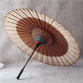 VINTAGE GIAPPONESI OMBRELLO IN LEGNO-ESTATE-manico in legno-HAND MADE Shade