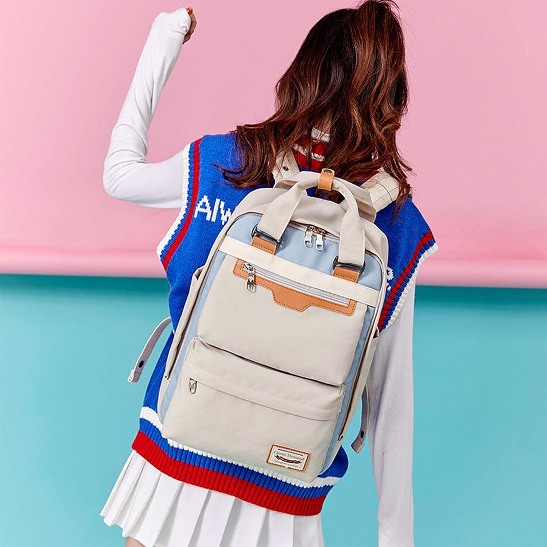 FANDARE Sac /à Dos de Loisirs Femme Cartable Fille Sacs Scolaires Sac /à Main pour 16 inch Laptop Backpack Entreprise Voyage /École Travail /Étanche Sac d/école Bleu