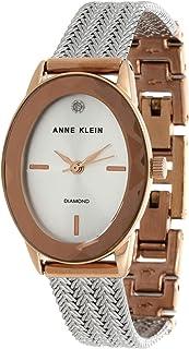 Anne Klein Womens Quartz Watch, Analog Display and Stainless Steel Strap AK/3499SVRT