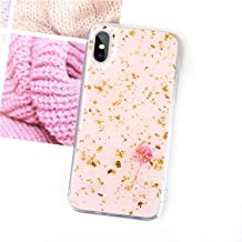 Luxury Gold Foil Phone Cases for iPhone Xs Max Xr Xs Purple Gradient Cover Soft TPU Cover for iPhone 7 8 6 6S Plus Glitter Cases,Style 5,for iPhone Xs
