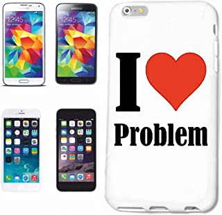 Reifen-Markt Hard Cover - Funda para teléfono móvil Compatible con Samsung Galaxy S5 Mini I Love Problem