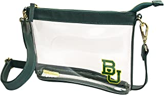 Capri Designs Clear Small Crossbody Bag, Stadium Approved with Team Logo, NCAA Licensed, PVC Color Accents