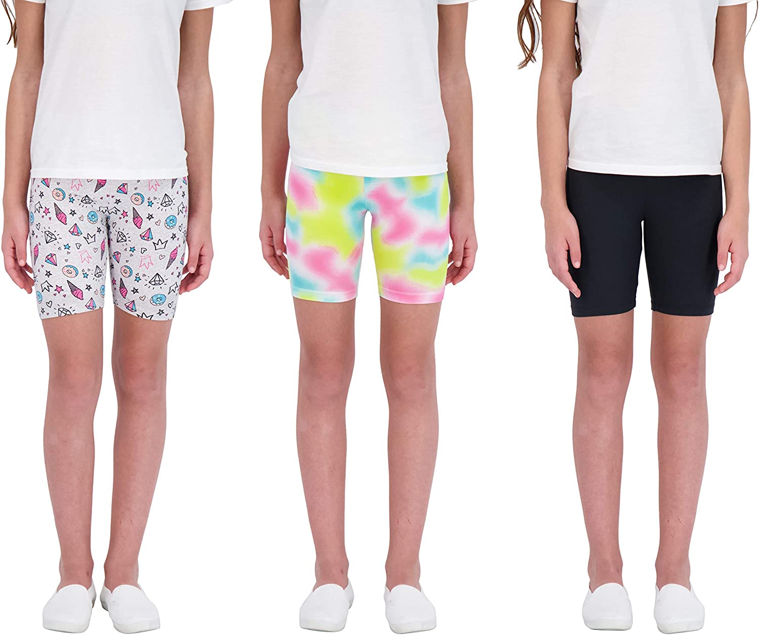 Star Ride We OFFer at cheap prices 3-Pack Girls Athletic Workout Bike Shorts Popular product Clo