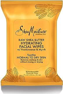 Shea Moisture Raw Shea Facial Wipes, 30 Count