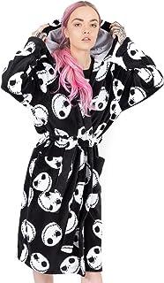 Disney The Nightmare Before Christmas Dressing Gown For Women   Adults Jack Skellington Pocket Black Bathrobe   Tim Burton...