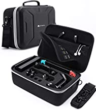 Mumba Deluxe Carrying Case for Nintendo Switch, Large Capacity Travel Storage Pouch for Switch Console & Accessories - Black