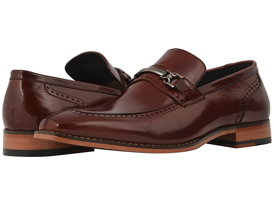 Stacy Adams Tanner Moe Toe Penny Loafer (Cognac) Men