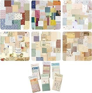 Mitening 360 feuilles de papier de scrapbooking, papier décoratif pour scrapbooking, autocollants vintage, accessoires de ...