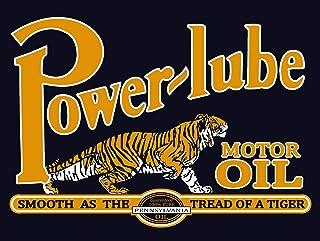 Power Lube Motor Oil metallskylt 8 x 12 tum väggdekor retro tennskylt