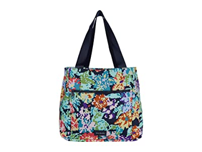 Vera Bradley ReActive Drawstring Family Tote (Happy Blooms Cross-Stitch) Tote Handbags